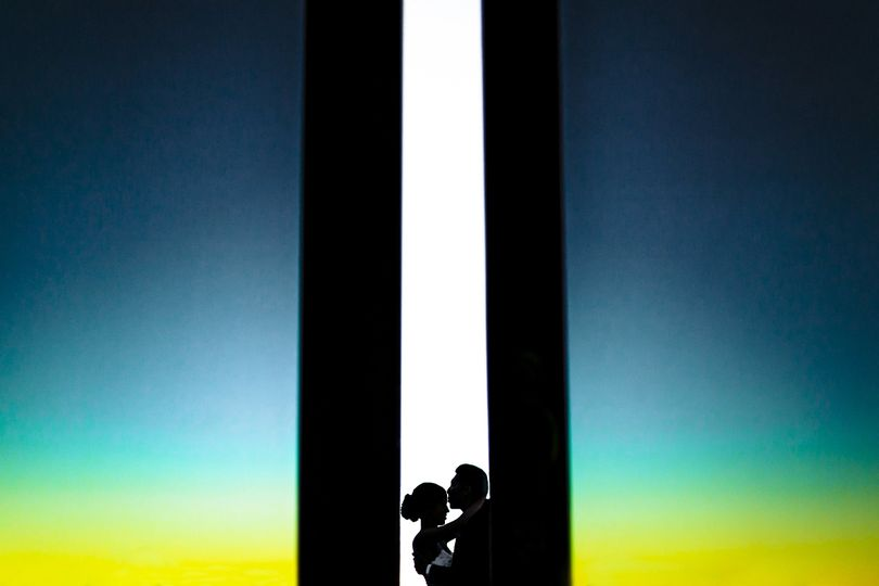 thomas fogarty winery wedding silhouetted bride and groom 51 521913