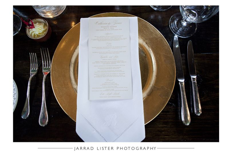 800x800 1415116273713 menu placecard gold tablesetting   asheville event