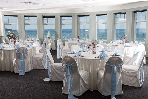 Inside the Seashell Oceanfront Pavilion Banquet Room