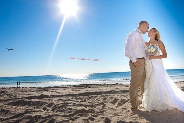 Exchanging vows in the sand