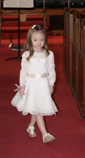 Dress made for baptism from grandmothers wedding gown.