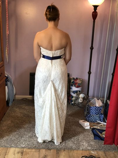 Bustled gown