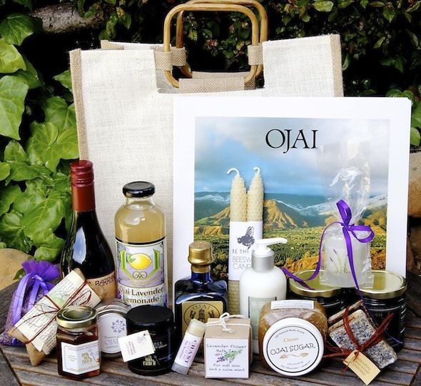 Wedding Welcome Gift featuring products from Ojai, California.