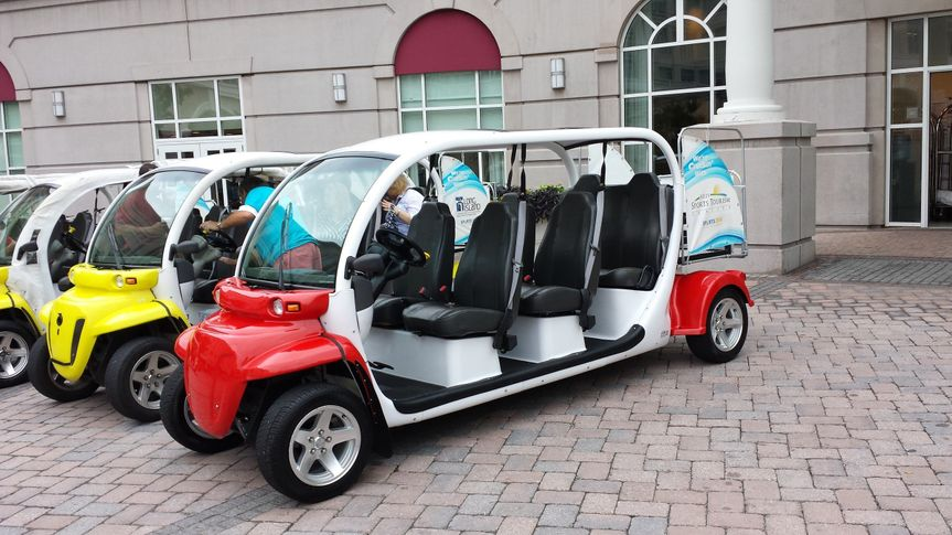 Our eCruisers are ready to transport you to your event in a unique and fun way!  Stand out in a...