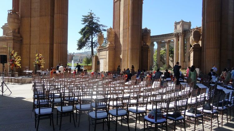 Palace of Fine Arts Rotunda SF Wedding