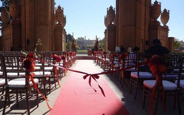 Palace of Fine Arts Rotunda SF Wedding