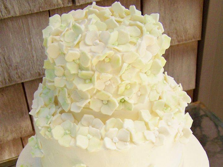 Tmx 1468167904890 Green Hydrangea2 Wellfleet wedding cake