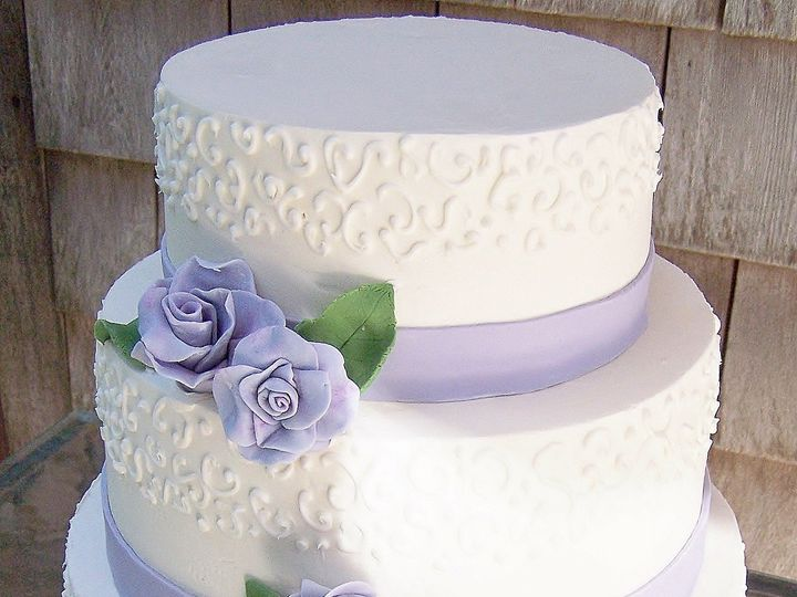 Tmx 1468168695779 Lavender Rose2 Wellfleet wedding cake