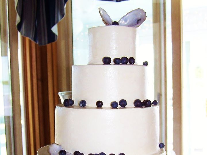 Tmx 1468168915096 Oyster Shell Cake3 Wellfleet wedding cake
