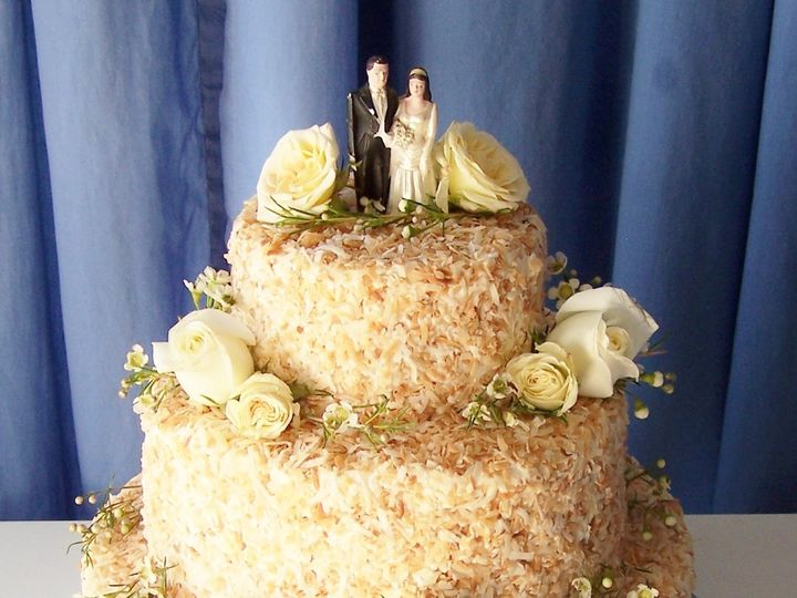 Tmx 1478355746921 Toasted Coconut Cake Wellfleet wedding cake