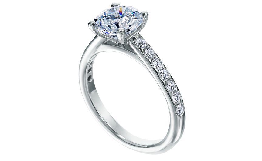 Smooth Set Engagement Ring