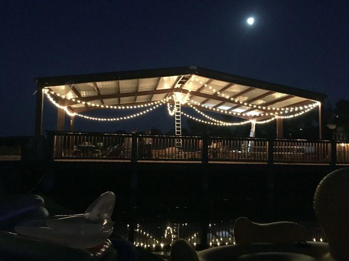 Crestview Lake dock at night