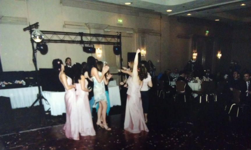 Bridesmaids having a good time at The Hilton in Albuquerque, NM