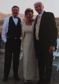 Picture of DJ Gary Rollins and bride & groom. This particular wedding I DJ'd the ceremony at their...