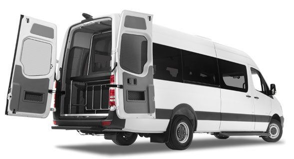 Tmx Mercedes Van Rear Door Open 51 1046913 Miami, FL wedding transportation