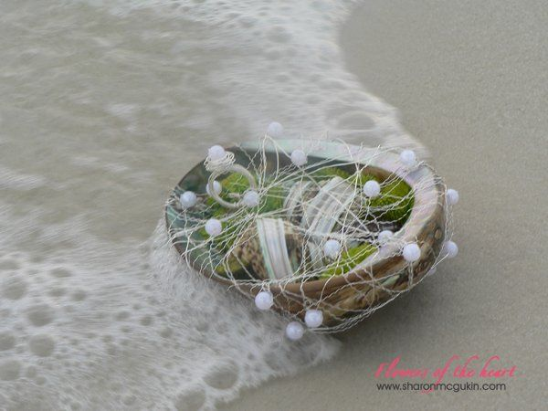 'Flowers of the heart' gives suggestions for planning a destination wedding including photos of...