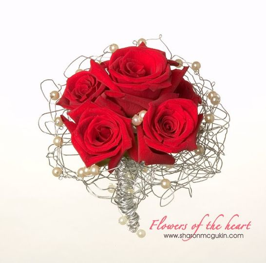 Along with traditional designs, 'Flowers of the heart' offers trendy new ideas for wedding flowers...