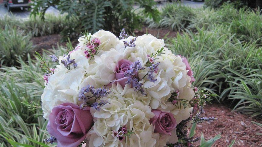 Lavender and white bridal