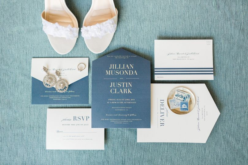 Traditional wedding stationery