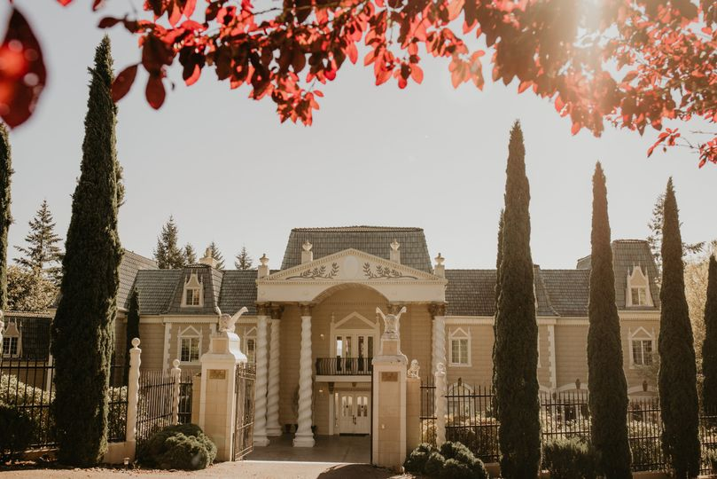 Mansion on a sunny day