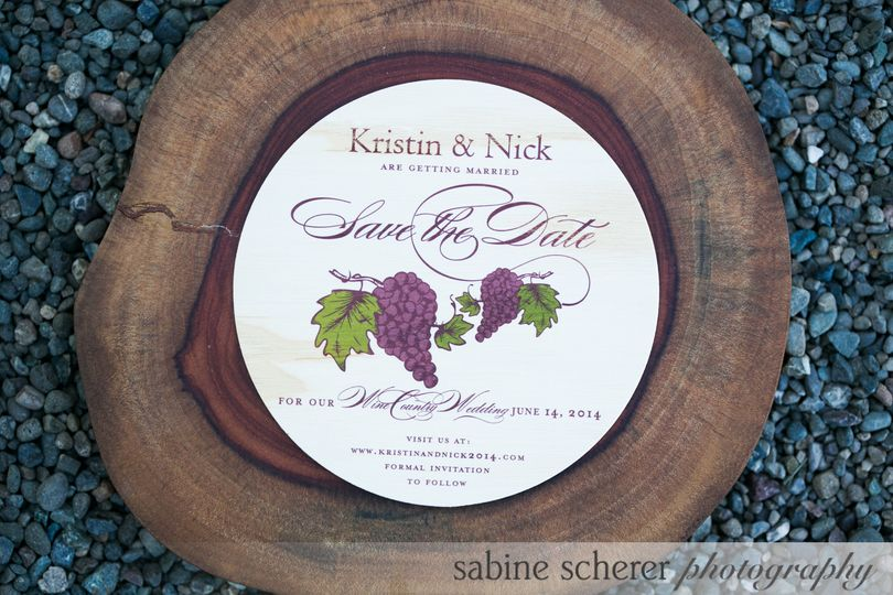 Wood Save the Date card