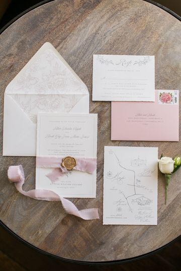 Artisan floral invitation with