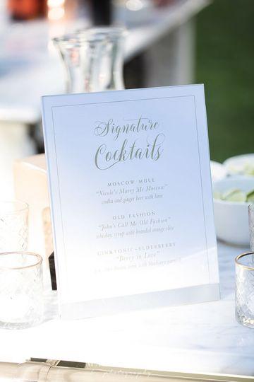 Signature Cocktail Bar Sign