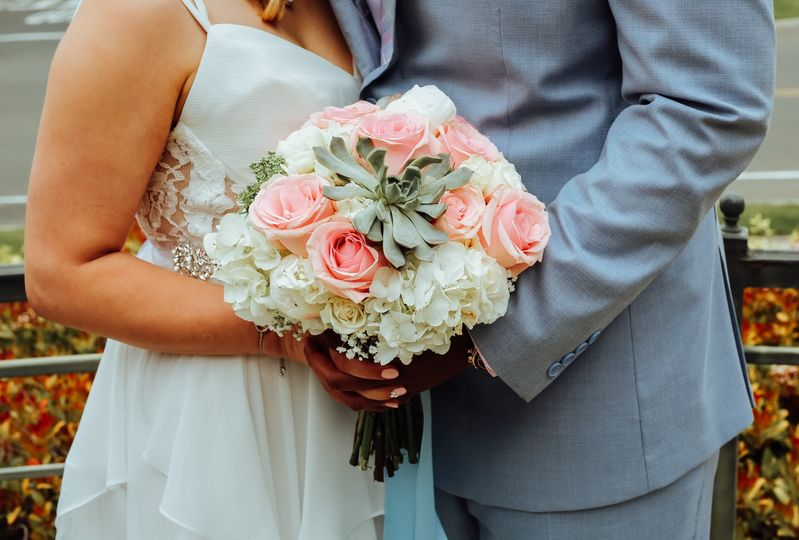 Pink and cream florals - October Dusk Photography