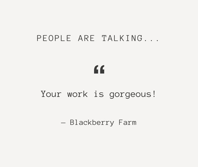 Blackberry Farm Quote