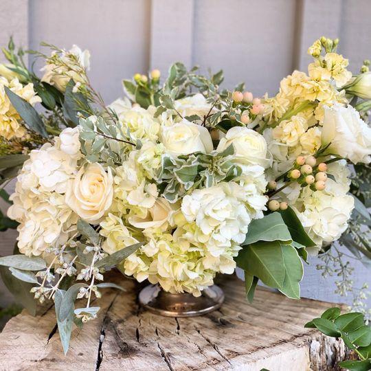 Romantic Hydrangea Centerpiece