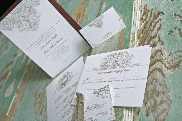 The Aristocrat Wedding Invitation Suite