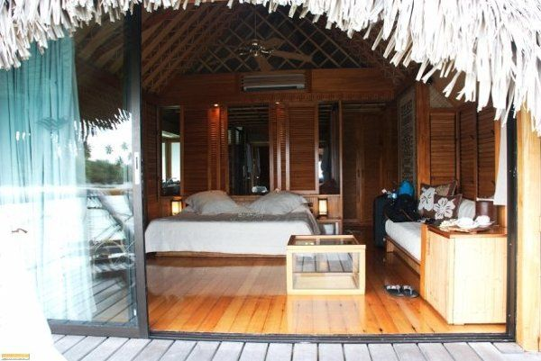 inside an overwater bungalow