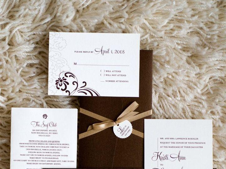 Tmx 1338999486913 KathieSamples5 New City wedding invitation