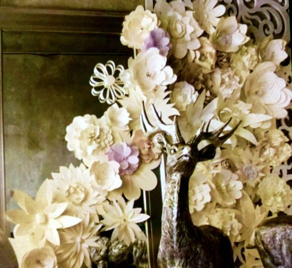 Paper flower installation Holiday