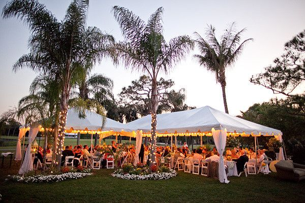 Marquee reception setup