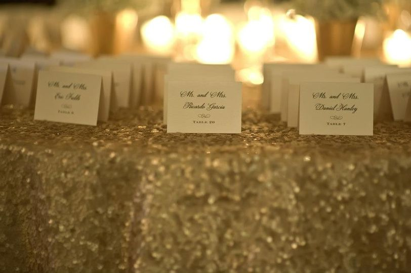 Escort cards and place cards all created to perfectly match your day-of decor.