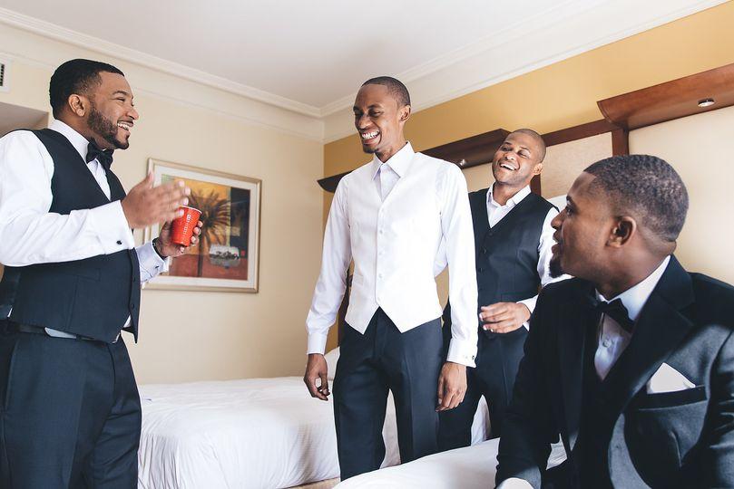 The groom preparing