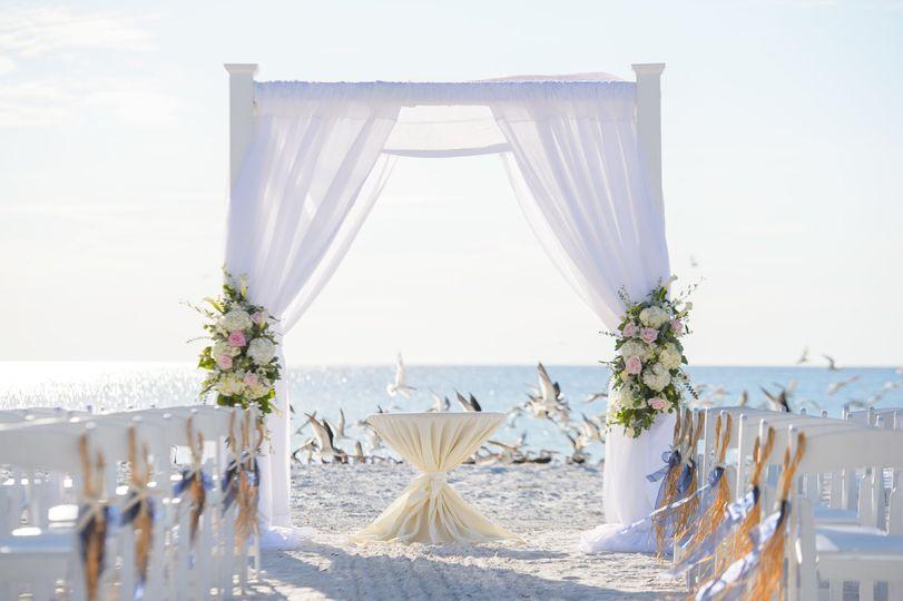 Outdoor ceremony design