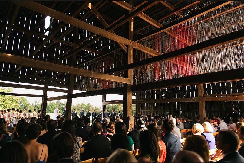 Wedding at the Tobacco Barn