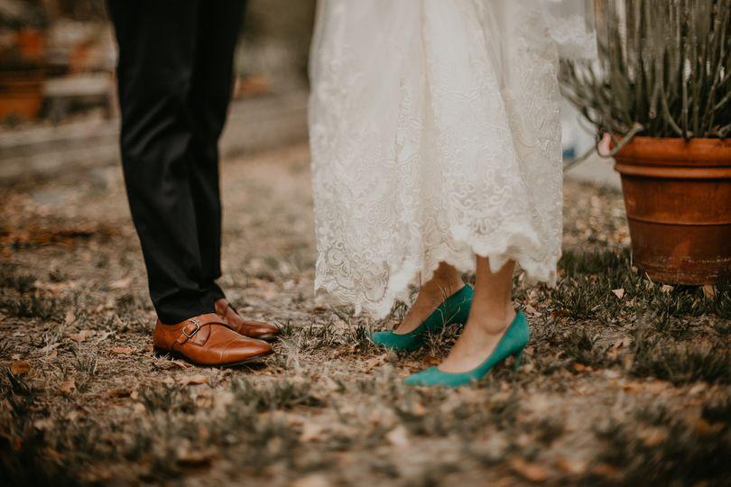 Blue shoes Fatima Elreda Photo
