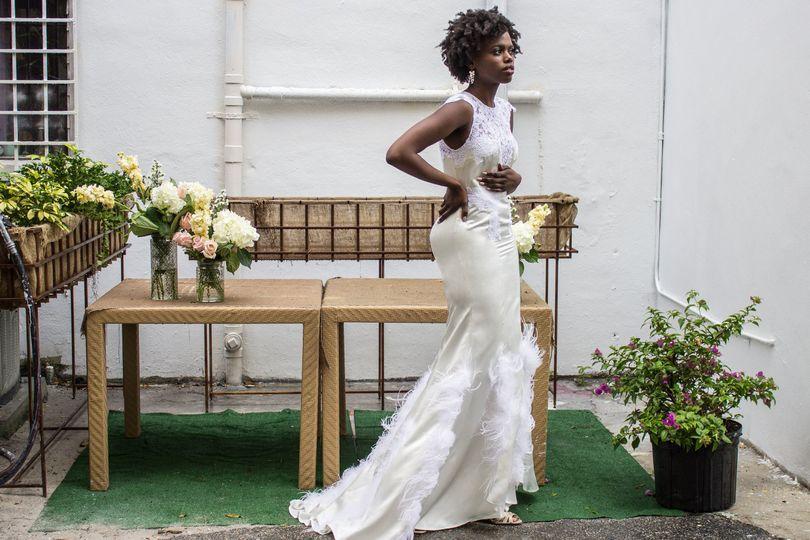 Bride and decor