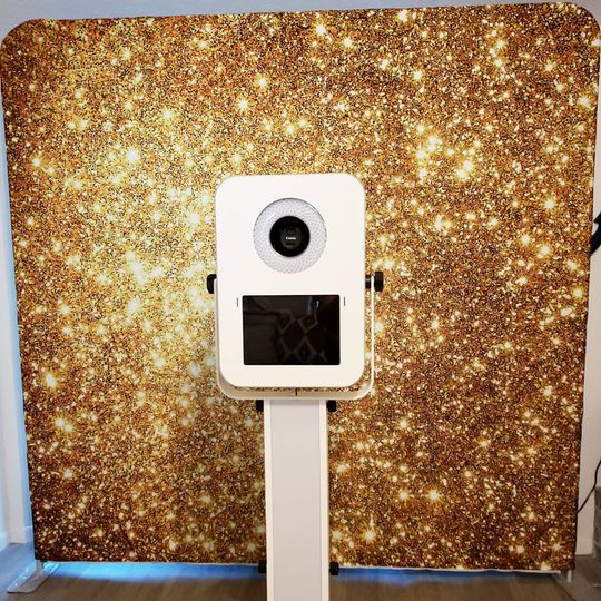 Gold-sequin backdrop