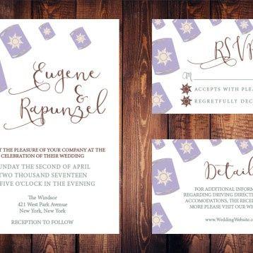 Tmx Wedding Rapunzel Package 51 1061123 1555690685 Helmetta, NJ wedding invitation