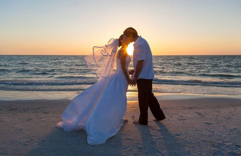 A Beautiful sunset kiss