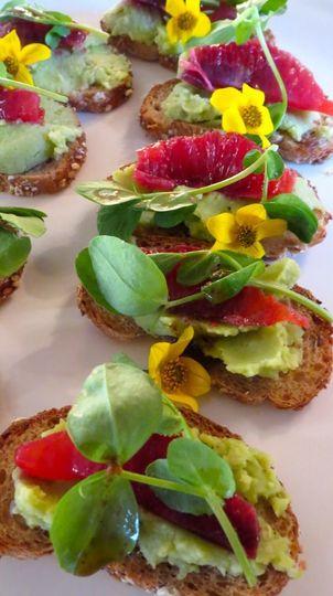 Tuna & Greens on Homemade Chip