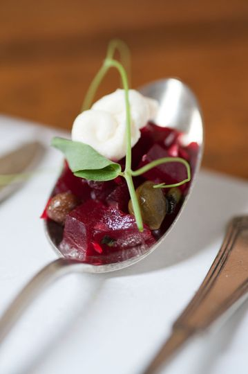 Beets with Creme Fraiche