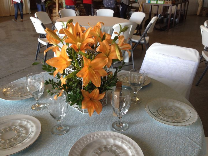Yellow flowers for table centerpiece
