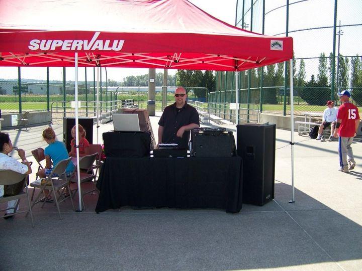 Hosting at the annual SuperValu Company Softball Tournament.