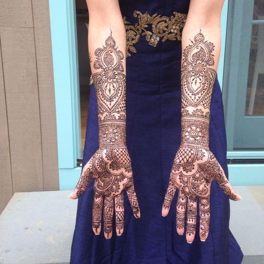 Traditional bridal henna!