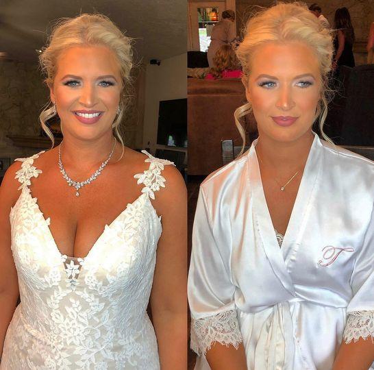 Full Smokey Muave Bridal Glam